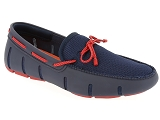 SWIMS SWIMS BRAIDED LACE LOAFER<br>Bleu