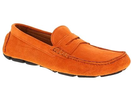 Toledano 92235 orange - Livraison Gratuite avec - Chaussures Mocassins Homme