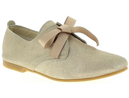 chaussures a lacets coco abricot v0707c or