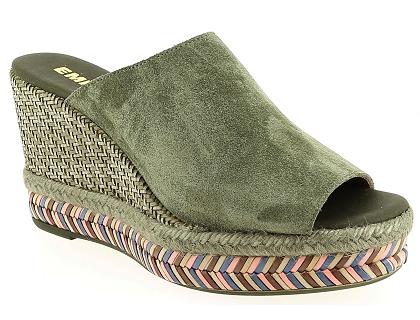 Emma 18120 Kaki - Chaussures Mocassins Femme