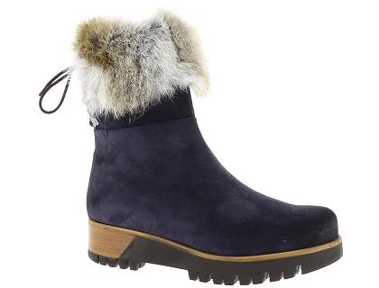 Manas Bottines Bordeaux - Chaussures Bottine Femme