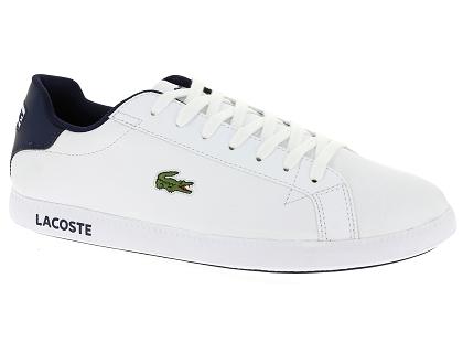 bb1ae21623 89 Blanc Graduate Baskets Homme Les 00 Chaussures Lacoste Basses Svw1nWBqH