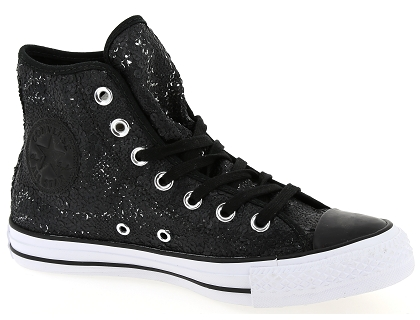 les baskets mod montantes converse fem paillettes noir chaussures femme livraison. Black Bedroom Furniture Sets. Home Design Ideas