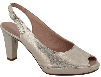 Dorking 6604.MA Argent - Chaussures Escarpins Femme