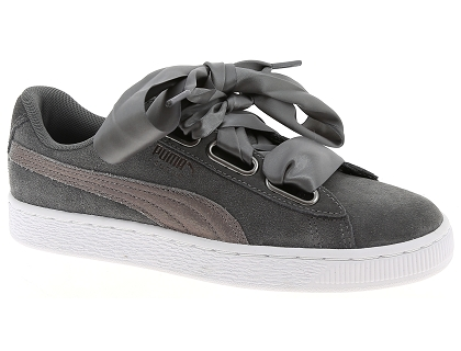 Les baskets basses chaussures puma w suede heart gris chaussures basses femme 3f19a1