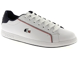 LACOSTE CARNABY EVO LACOSTE GRADUATE:Cuir/BLANC/-//