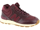 AIR STEP 98 630221 NEW BALANCE WH574:Textile & Synthét./BORDEAUX/-/Textile/Caoutchouc Gomme