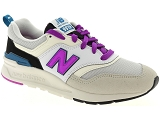 TIMBERLAND WINDBUCKS NEW BALANCE CW997:Cuir/BLANC/VIOLET/-/Textile/Caoutchouc Gomme