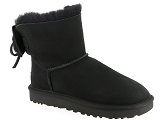 UGG DECKERS UGG CLASSIC  DOUBLE BOW MINI<br>Noir