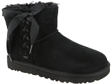 UGG DECKERS UGG CLASSIC LACE MINI<br>Noir