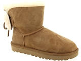 UGG DECKERS UGG CLASSIC DOUBLE BOW MINI<br>Marron