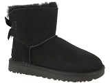 UGG DECKERS UGG MINI BAILEY BOW II<br>Noir