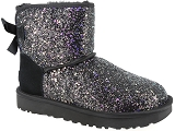 UGG DECKERS UGG CLASSIC MINI BOW COSMOS<br>Noir