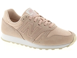 BASE LONDON WEAVER NEW BALANCE WL373:Cuir/ROSE/-/Textile/Caoutchouc Gomme