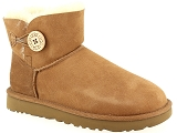 UGG W DAKOTA POM POM UGG MINI BAILEY BUTTON II:Nubuk/NOISETTE/-/Fourrée/