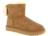 LITTLE LA  SUITE 19122 UGG FLUFF BOW MINI:Nubuk/NOISETTE/-/Fourrée/