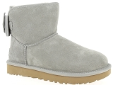 NEW BALANCE WL840AC UGG SATIN BOW MINI:Nubuk/GRIS CLAIR/-/Fourrée/