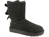 TOMMY HILFIGER ESSENTIAL NYLON RUNNER UGG BAILEY BOW II:Nubuk/NOIR/-/Fourrée/