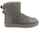 boots et bottines ugg mini bailey bow ii gris9077303_2