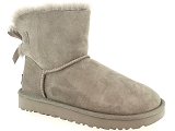 UGG MINI BAILEY STAR UGG MINI BAILEY BOW II:Nubuk/GRIS CLAIR/-/Fourrée/EVA