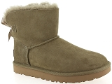 FLECS A125 UGG MINI BAILEY BOW II:Nubuk/KAKI/-/Fourrée/