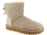 EMMA  18136 UGG MINI BAILEY BOW II:Nubuk/BEIGE ROSE/-/Fourrée/