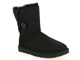 UGG CLASSIC MINI UGG BAILEY BUTTON II:Nubuk/NOIR/-//