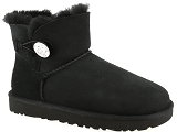 UGG DECKERS UGG MINI BAILEY BUTTON BLING<br>Noir