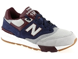 FRED PERRY 3058 NEW BALANCE ML597:Cuir et Nubuck/MARINE/-//