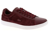 UNISA KARISI LACOSTE CARNABY EVO 318 5:Cuir/BORDEAUX/-//