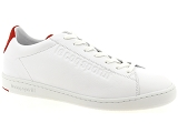 FRED PERRY 5184 LE COQ SPORTIF BLAZON:Cuir/BLANC/ROUGE/-//