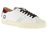 DATE HILL LOW CALF<br>Cuir BLANC ROUGE - Cuir