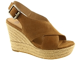 COCO & ABRICOT V1240A UGG HARLOW:Nubuk/CAMEL/-/Cuir/Caoutchouc Gomme