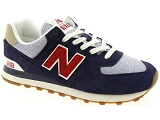 AIR STEP AS98 239304 NEW BALANCE ML574:Cuir/MARINE/-/Textile/Caoutchouc Gomme