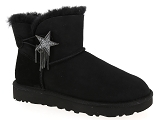UGG MINI BAILEY STAR<br>Nubuk NOIR - Fourrée EVA