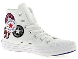 CHUCK TAYLOR ALL STAR<br>Toile BLANC - Textile Caoutchouc Gomme