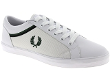 INUOVO 107015 FRED PERRY 5151:Cuir & Textile/BLANC/KAKI/-/Cuir/Caoutchouc Gomme
