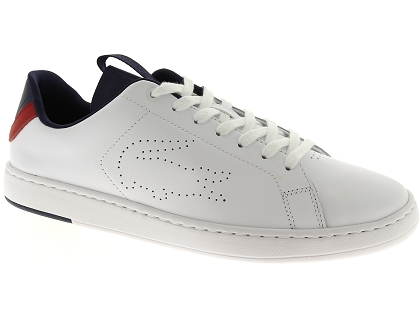 baskets basses lacoste carnaby evo blanc