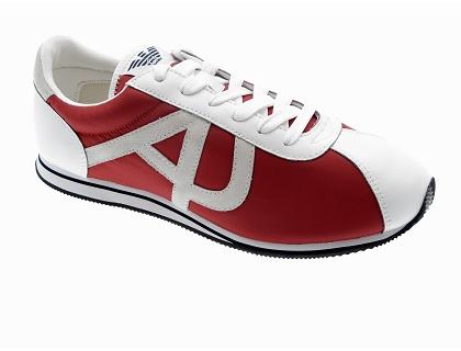 Les baskets basses basket armani r6567 rouge - chaussures homme ... ea8ed2124c29