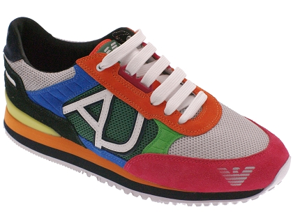 7a1502e0116 Les baskets basses tennis armani t6512 multicolor - chaussures homme ...