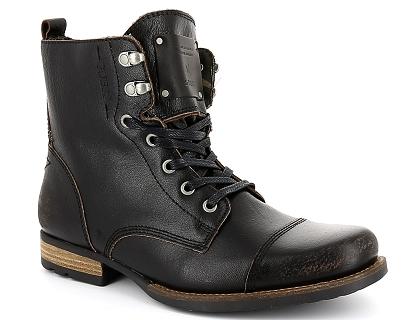 ecb0a5f545cd Les boots et bottines guess jack retro noir - chaussures homme ...