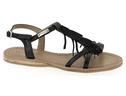 nu chaussures et tropezienne noir pieds bella Les sandales femme qMVSUzp