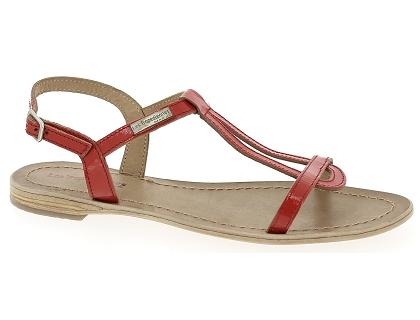 Femme Pieds Hamess Sandales Rouge Et Chaussures Nu Tropezienne Les Kcl1JF