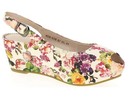 Les sandales et nu pieds couleur pourpre 1256 t multicolor