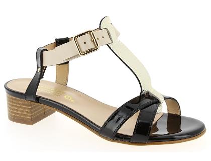 Les sandales et nu-pieds rose metal h0138c noir - chaussures