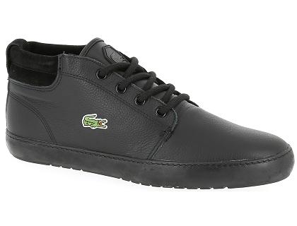 737f10d32a Les baskets basses lacoste ampthill noir - chaussures homme 109.00 ...