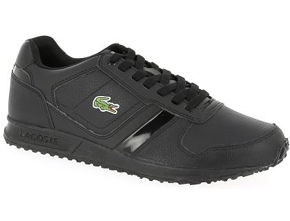 6cdebfd98e Les baskets basses lacoste vauban cuir noir - chaussures homme 99.00 ...