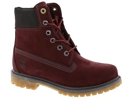 bottines timberland femme rouge