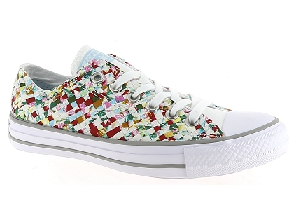 5000dcae16b Les baskets basses converse all star ox tresse blanc - chaussures ...