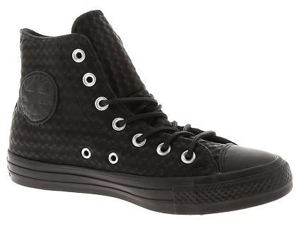 chaussure femme converse montante noir
